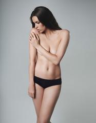 Sensuous female model topless