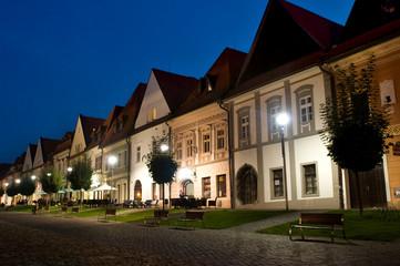 Bardejov - UNESCO-Stadt - Panorama in der Nacht
