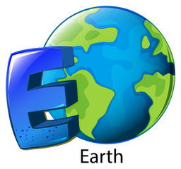 A letter E for Earth