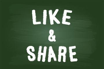 Like And Share Share Sign On Blackboard