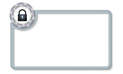 vector frame for entering text with padlock
