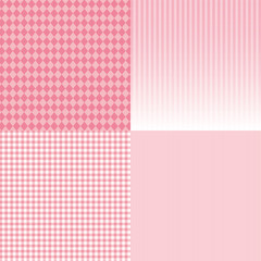 パターン背景素材集 - ピンク