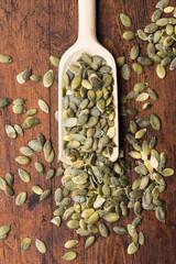 Close up of pumpkin seeds - semi di zucca