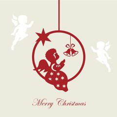 Christmas card, Merry christmas, angel