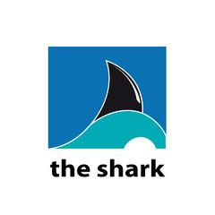 Vector logo shark