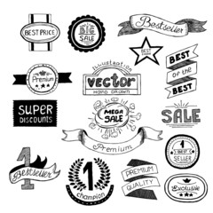 Set icons Premium quality best choice labels