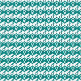 Teal and White Male and Female Gender Symbol Repeat Pattern Back poster