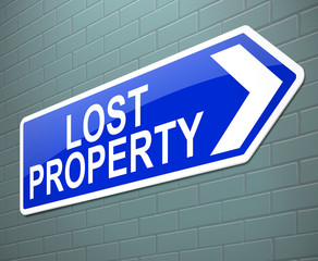 Lost property concept.