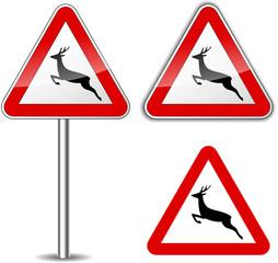 Vector deer signs