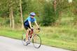 male cyclist on a race bike