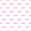 Vector seamless pattern tile pink bows on white background