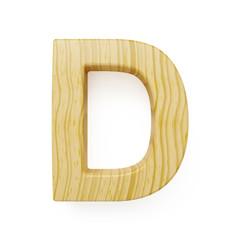 Wooden alphabet letter symbol - D