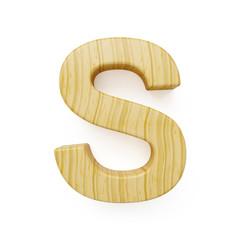Wooden alphabet letter symbol - S