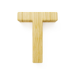Wooden alphabet letter symbol - T