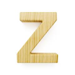 Wooden alphabet letter symbol - Z