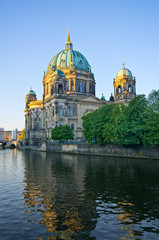 Berliner Dom over the Spree river, Germany