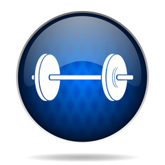 fitness internet blue icon