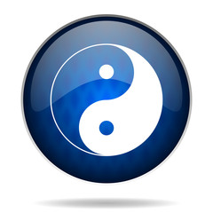 ying yang internet blue icon