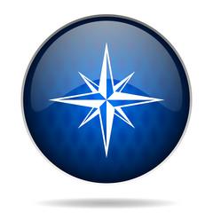 compass internet blue icon