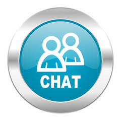 chat internet blue icon