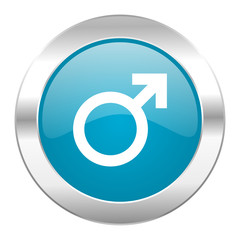 male internet blue icon