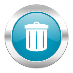 recycle internet blue icon