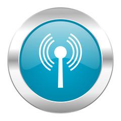 wifi internet blue icon