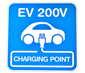 電気自動車の充電標識