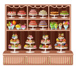 Store of sweets and bakery. vector illustration - 70196316