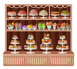 Store of sweets and bakery. vector illustration - 70196323