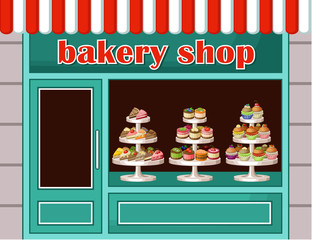 Store of sweets and bakery. vector illustration