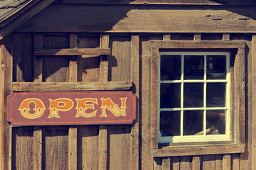 An old cow-boy bar is in California
