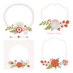 holiday vector collection, cute frames