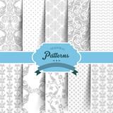 Fototapety Seamless patterns set