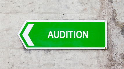 Green sign - Audition