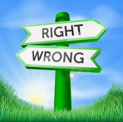 Right or wrong sign in field