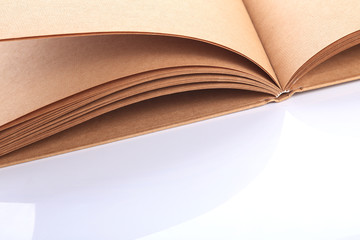open book paper blank rough texture