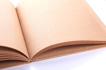 open book paper blank rough texture