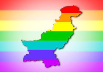 Rainbow flag pattern - Pakistan