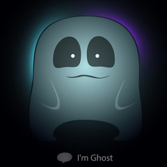 Ghost catoon charactor very cute transparency for  Halloween. Ve