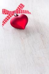 Weihnachten Herz Schleife rot weiß