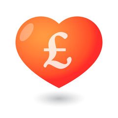 Heart with a currency icon
