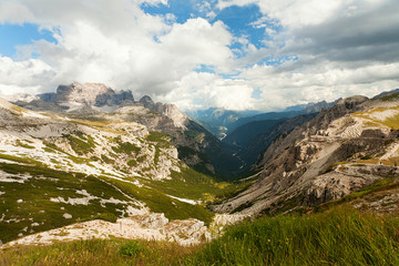 Dolomites mountain panorama in Italy