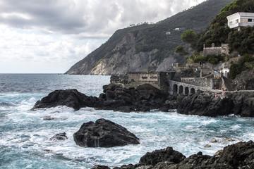 Cinque Terre Framura Coast and rough sea