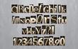 Letterpress printing blocks alphabet, vector