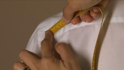 Tailor Width of Shoulders Measuring