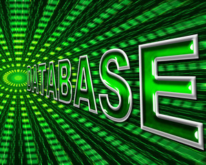 Databases Data Indicates High Tech And Bytes