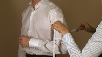 Tailor Bicep Measuring