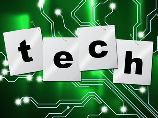 Electronic Circuit Means High Tech And Digital