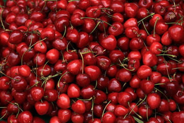Cherries at a market